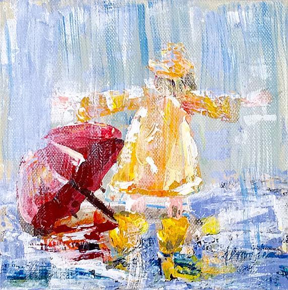 Art: I love Rain by Artist Alma Lee