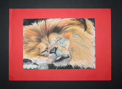 Art: Sleeping Lion by Artist Charley Harding