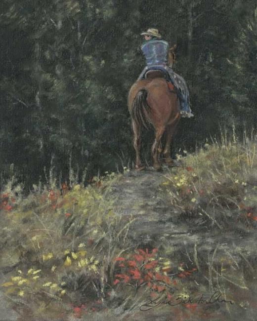Art: Cowboy by Artist Lynn Bickerton Chan