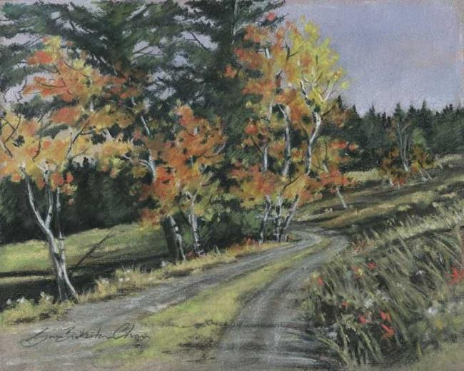 Art: Country Lane by Artist Lynn Bickerton Chan