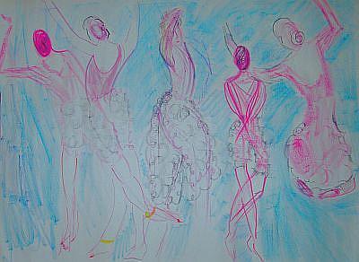 Art: Dance of  Five Seasons by Artist Kathabela Wilson