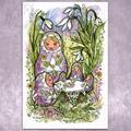 Art: Snowdrops & Matryoshkas by Artist Patricia  Lee Christensen