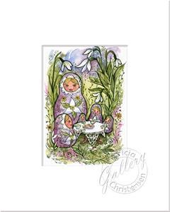 Detail Image for art Snowdrops & Matryoshkas