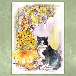 Art: Kitty in the Garden by Artist Patricia  Lee Christensen