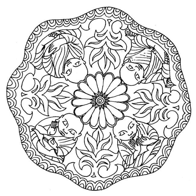 Art: Buddha Wheel by Artist Roy Guzman