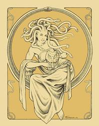 Art: Medusa by Artist John Thompson