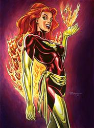 Art: Dark Phoenix by Artist John Thompson