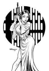 Art: Princess Leia by Artist John Thompson
