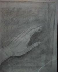 Art: Hand Study by Artist Jenny Doss
