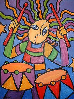 Art: Dude Looks Like a Drummer by Artist Lindi Levison