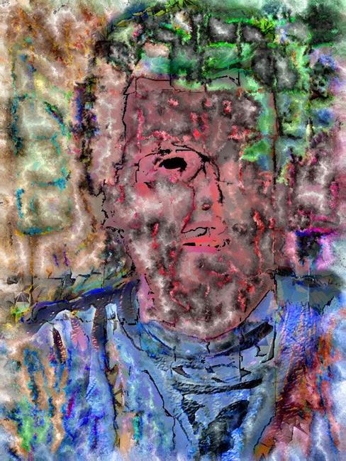 Art: Self Portrait by Artist Deanne Flouton