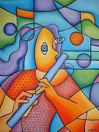 Art: The Flute Player by Artist Lindi Levison