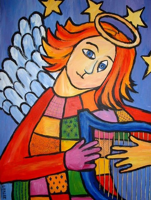 Art: Patchwork Angel by Artist Lindi Levison