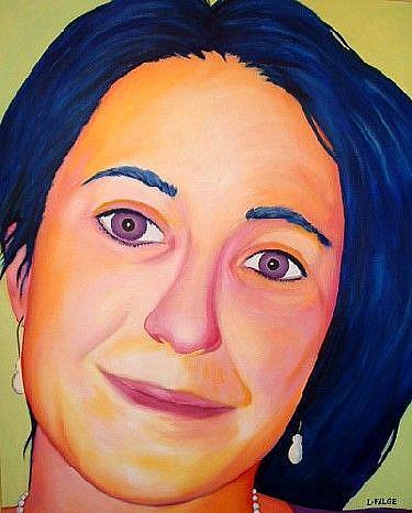 Art: Portrait of Amie Gillingham by Artist Lindi Levison