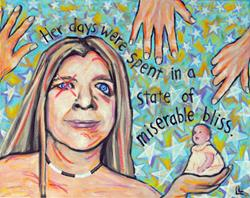 Art: Portrait of the Artist: Miserable Bliss by Artist Lindi Levison