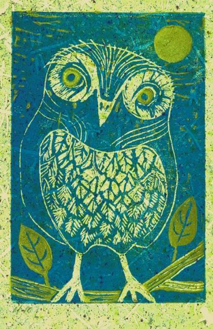 Art: Athene Noctua by Artist Elizabeth Fiedel