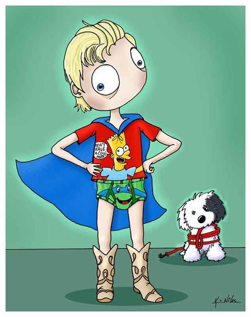 Art: My Little Hero by Artist KiniArt