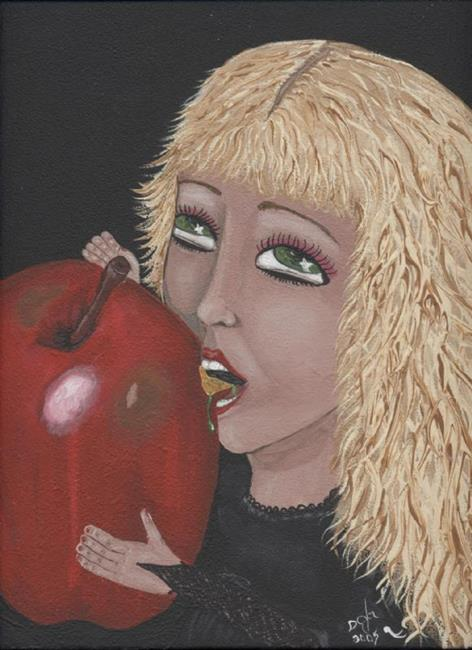 Art: Poison Apple After the Bite by Artist Sandi Gayle Stefkovich