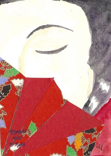 Art: Demure Geisha - Sold by Artist Kathleen Ralph