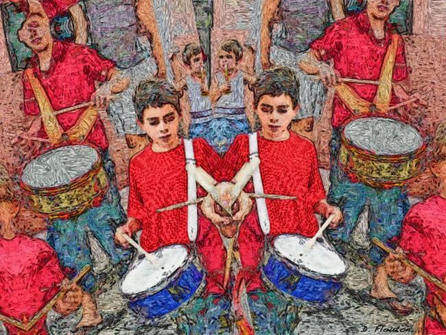 Art: Drummer Boy by Artist Deanne Flouton