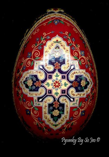 Art: aRed Blue Persian Rug Cross 4.jpg by Artist So Jeo LeBlond