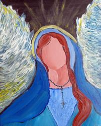 Art: Mother Mary Angel by Artist Elizabeth Paige VanSickle