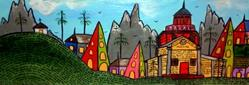 Art: Howard Finster's Paradise Gardens. by Artist Elizabeth Paige VanSickle