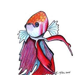 Art: Toony Fish (Maurice) by Artist KiniArt
