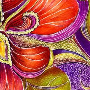 Detail Image for art Paisley Nasturtium