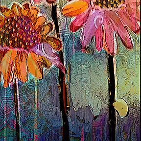 Detail Image for art Sun Drenched Coneflowers