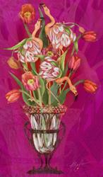 Art: Tip Toeing thru the Tulips by Artist Alma Lee