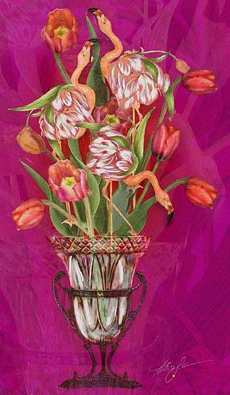Art: Tip Toeing thru the Tulips by Artist Alma Lee