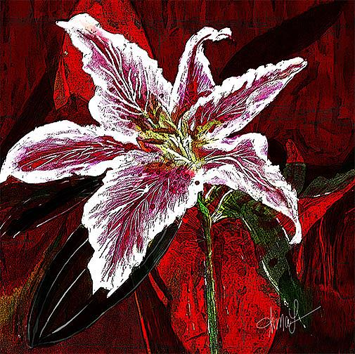 Art: Asian Lilly by Artist Alma Lee