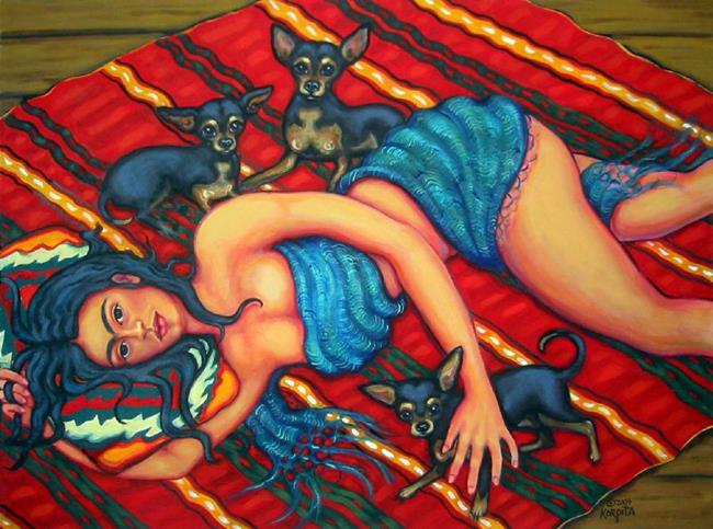Art: Dreaming of Diego by Artist Rebecca Stringer Korpita