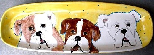 Art: Large bully Platter by Artist Deborah Sprague