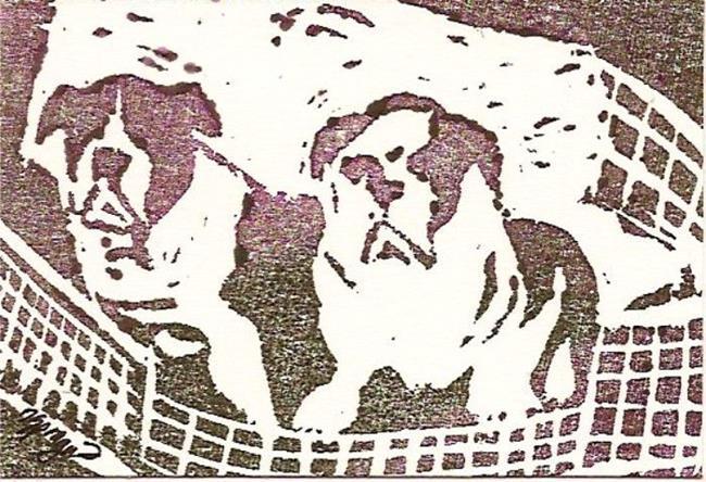 Art: Basket Full of Puppies by Artist Deborah Sprague