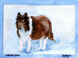 Art: Duncan in the Snow by Artist Deborah Sprague