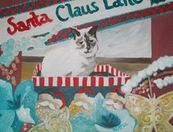 Art: Santa Claus Lane by Artist Vic