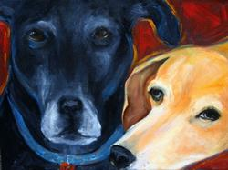 Art: Angus and Sasha by Artist Deborah Sprague