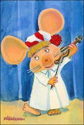 Art: Topo Gigio Violin by Artist Erika Nelson