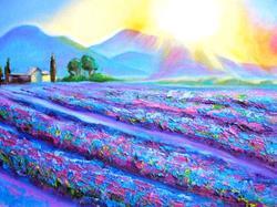Art: Provence-Lavender Dawn by Artist Susi Franco