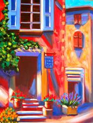Art: EuroLandscapes: Cafe In Roussillon, France by Artist Susi Franco