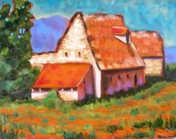 Art: EuroLandscapes:Cottage at Valle de Lot by Artist Susi Franco