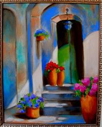 Art: EuroLand-CityScapes: TuscanDoor,Afternoon by Artist Susi Franco