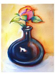Art: Grandmas' Bud Vase by Artist Susi Franco