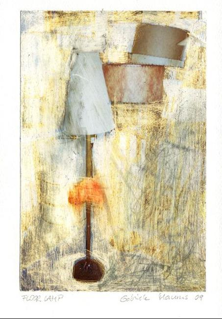 Art: FLOOR LAMP.......sassy interior by Artist Gabriele Maurus