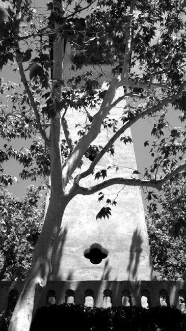 Art: Tower at Tlaquepaque by Artist Jen Thario