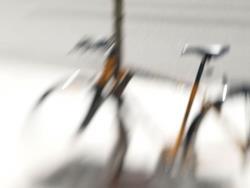 Art: Bike on Main Street by Artist Gabriele M.