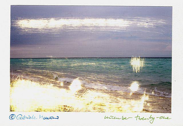 Art: UNIQUE CARD NUMBER TWENTY-ONE by Artist Gabriele Maurus