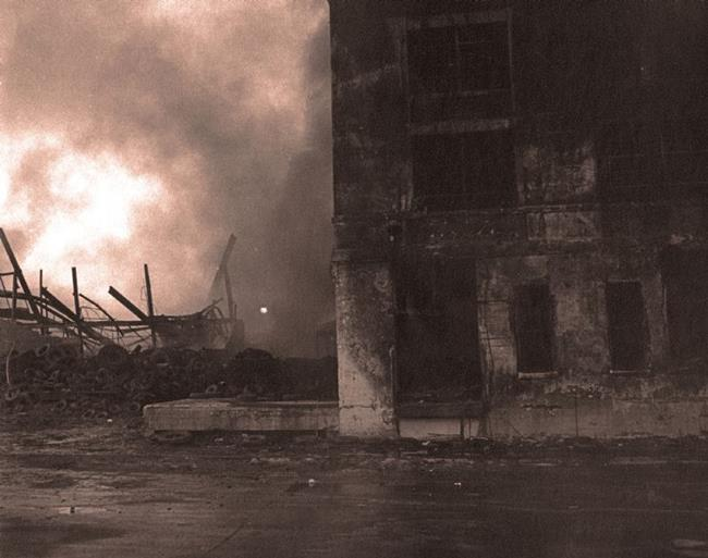 Art: Fire in a Chicago Tire Factory #1 by Artist Virginia Ann Zuelsdorf